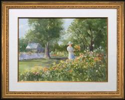 Trip to the Garden, framed