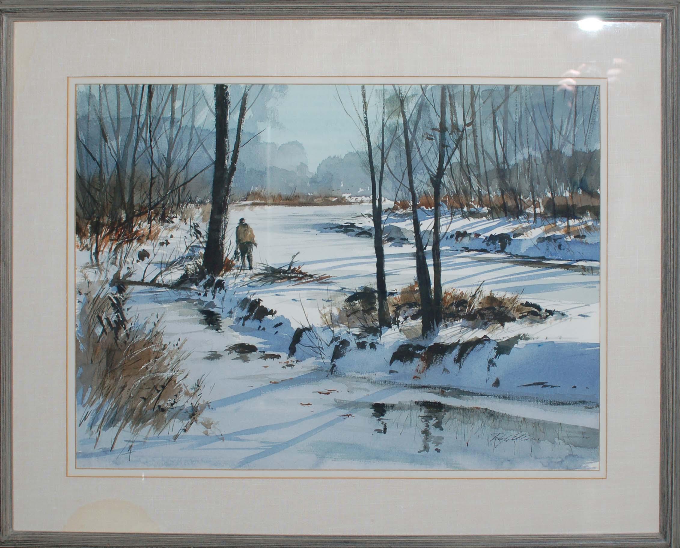 Hunter in Winter-framed