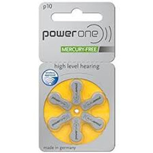 Power One ZA Batteries, size 10 (10 cards of 6 batteries)