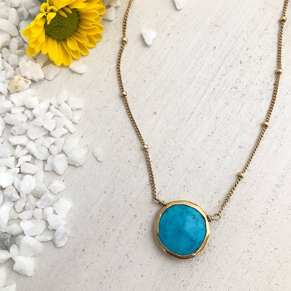 gemstone coin necklace