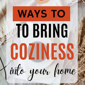 5 Ways to bring coziness into your home