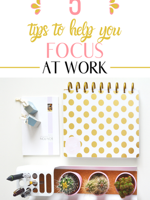 5 Tips for Staying Focused At Work (Work from home & office)