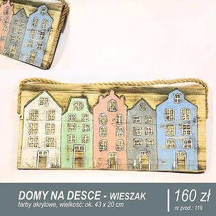 Drewniany domek, zestaw domków, zestaw d