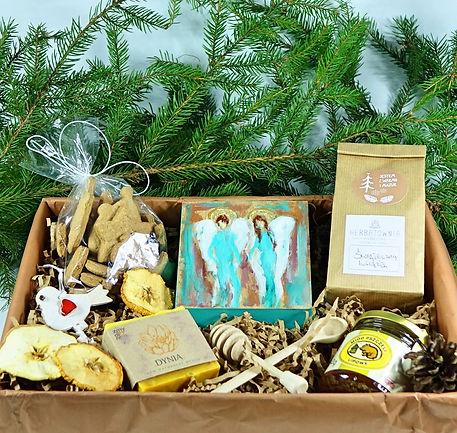Prezent na święta, zestaw świąteczny, ze