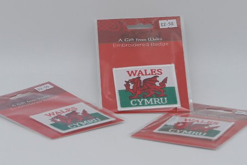 Wales Embroidered Badge
