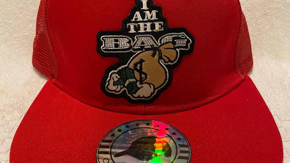 """I Am The Bag"" Red Trucker Snap Back"