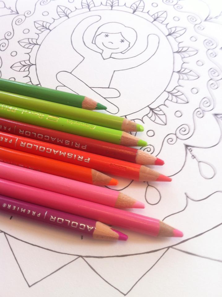 Mandala au crayon de bois
