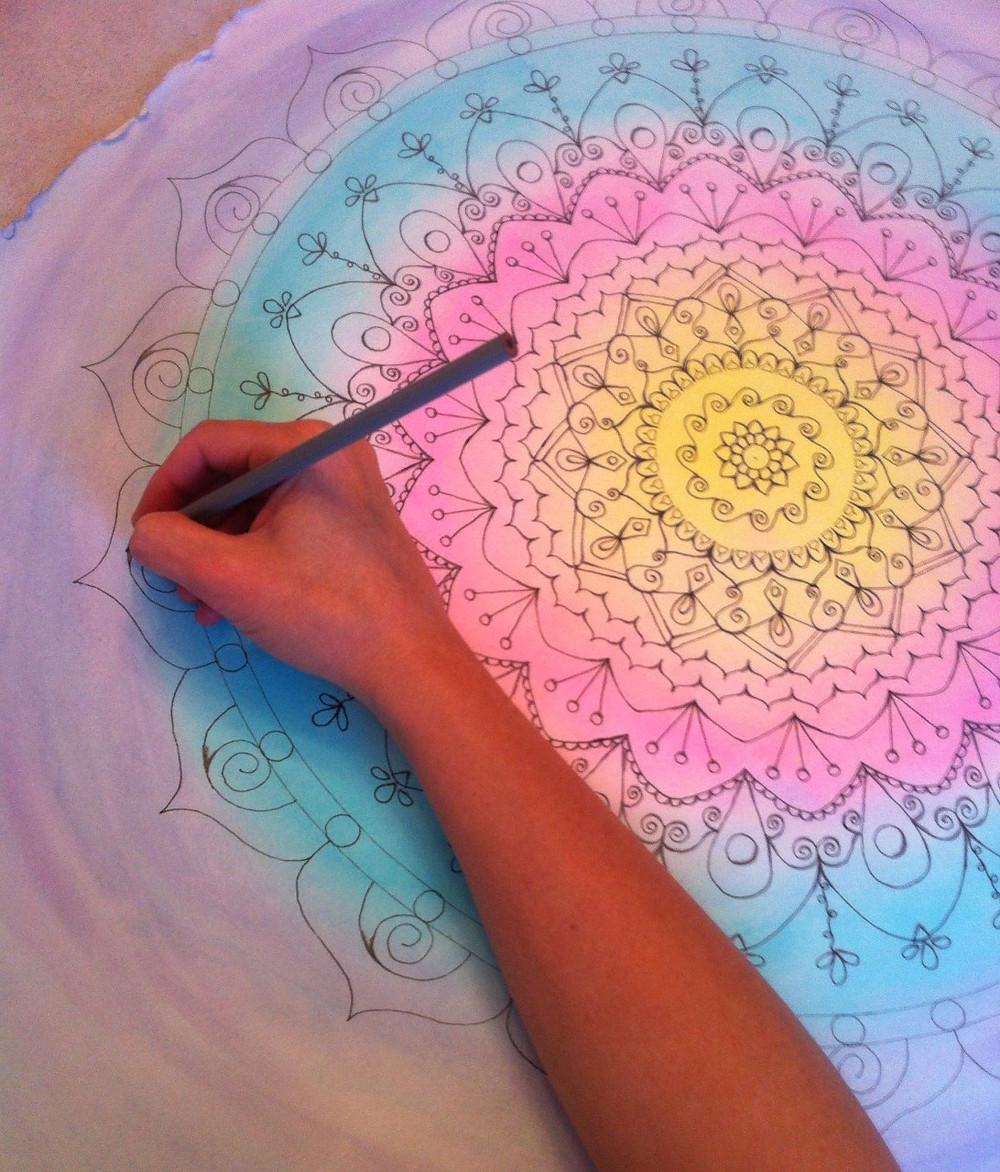 Mandala aquarelle autoportrait