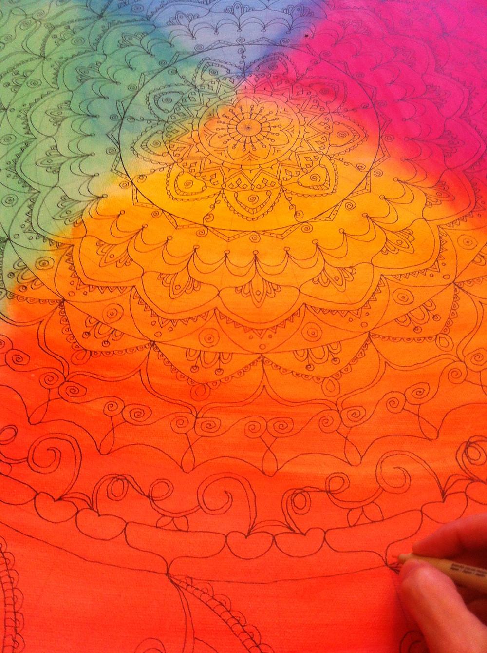 Mandala en création