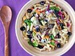 pasta-salad-spinach-artichokes