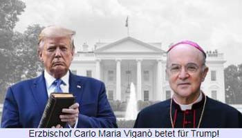 Архиепископ Карло Мария Вигано молится за Трампа