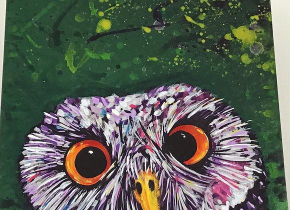 12 x 12 Acrylic on canvas by NITE OWL