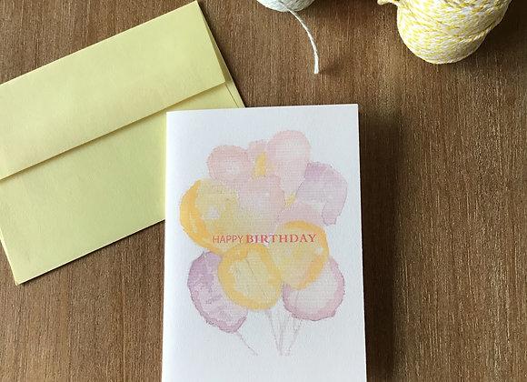 Ballon Bouquet birthday card