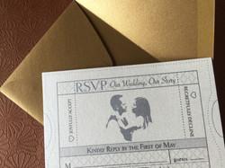 RSVP Wedding Movie Ticket