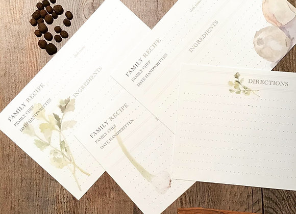 FAMILY RECIPE card set