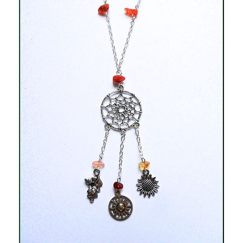 Litha Dreamcatcher Witches Ladder Necklace
