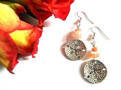 Sunstone Sand Dollar Earrings
