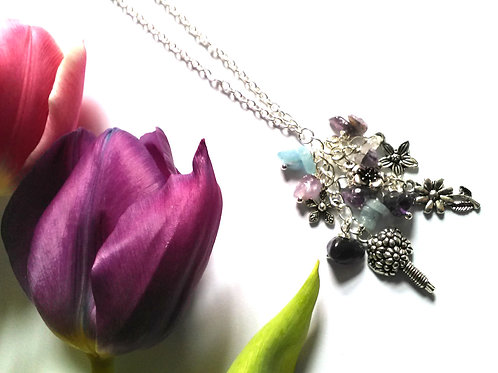 Mother's Day Bouquet Necklace