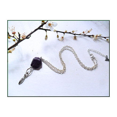 Imbolc Amethyst Goddess Necklace