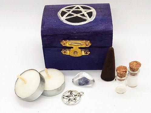 Purple Pentacle Mini Altar Kit