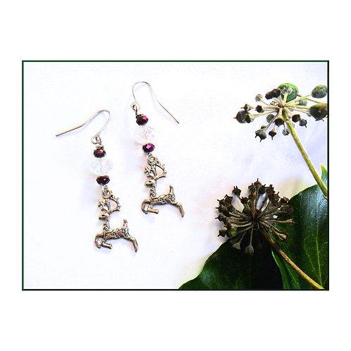 Prancing Stag Earrings