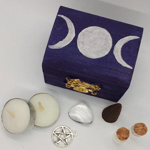 Purple Triple Moon Mini Altar Kit