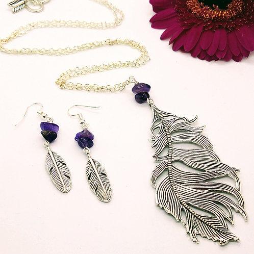 Feather Jewelry Set