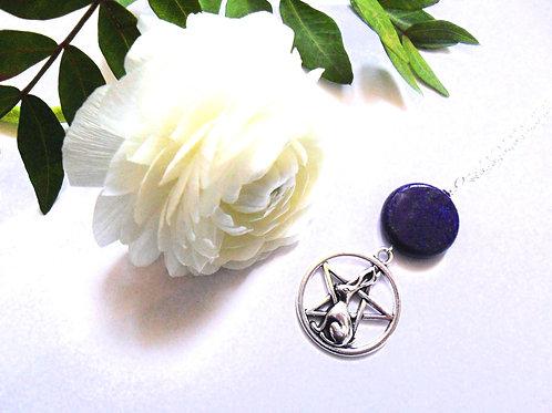 Lapis Lazuli Hare Pentacle Necklace