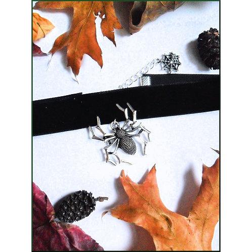 Samhain Spider Black Velvet Choker