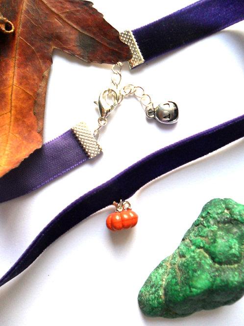 Halloween Pumpkin Choker Necklace