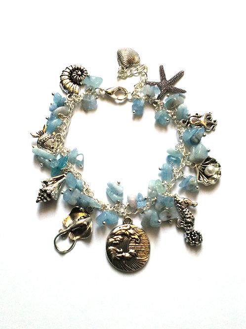 Water Element Loaded Charm Bracelet