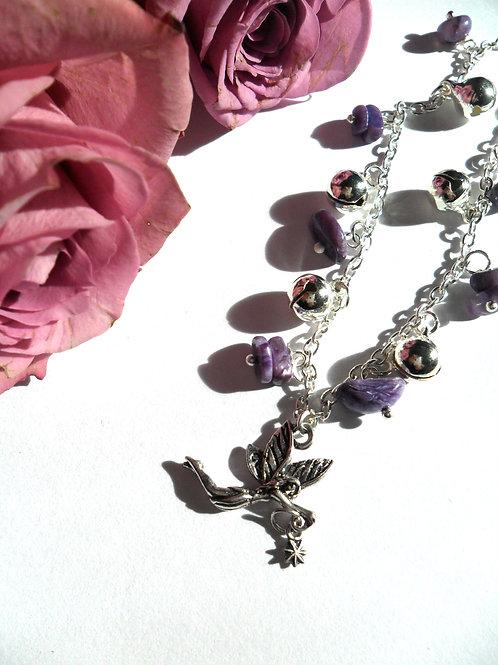 Charoite Fairy Bells Anklet