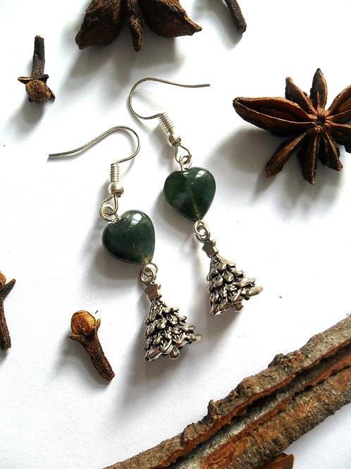 Yule Tree Earrings