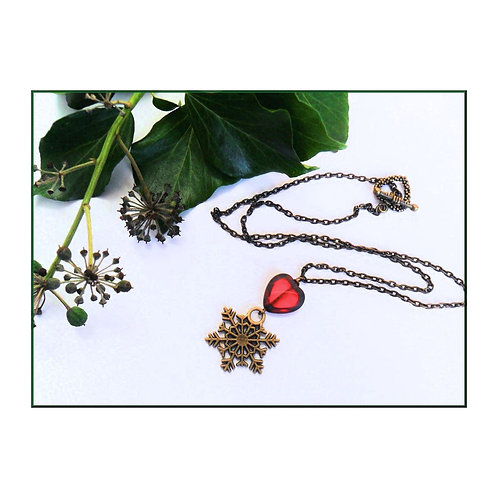 Winter Heart Necklace