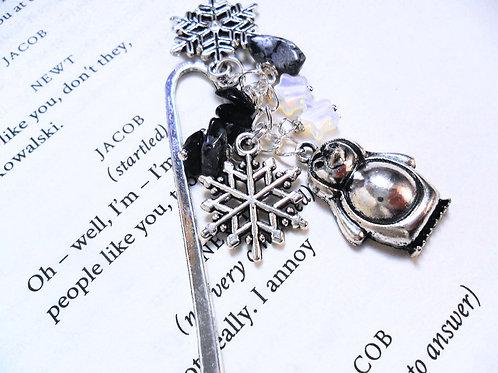 Frosty Penguin Christmas Bookmark