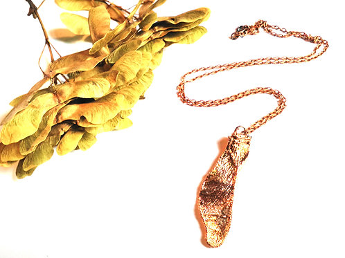 Copper Sycamore Key Necklace