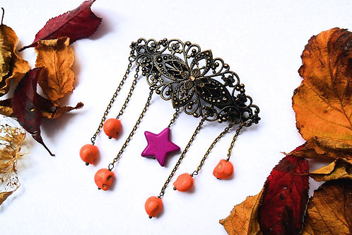 Halloween Samhain Voodoo Hairclip