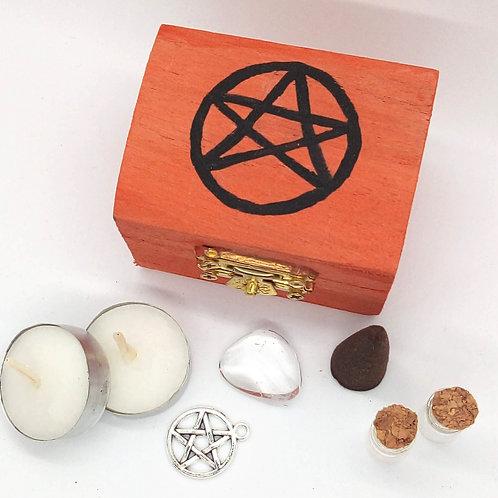 Orange & Black Pentacle Mini Altar Kit