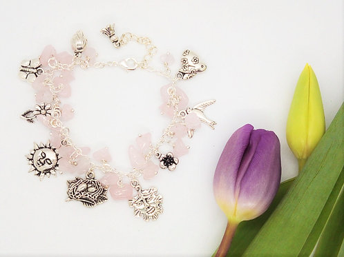 Imbolc Signs of Spring Loaded Charm Bracelet