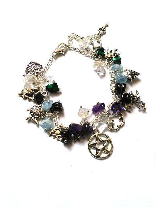 Five Elements Loaded Charm Bracelet