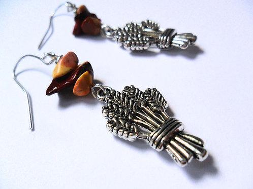 Lammas Wheatsheaf Earrings
