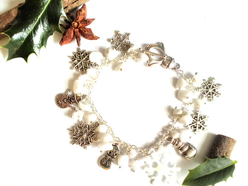 Snowfall Loaded Charm Bracelet
