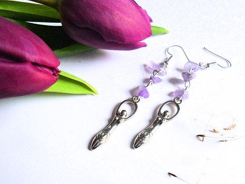 Air Element Goddess Earrings