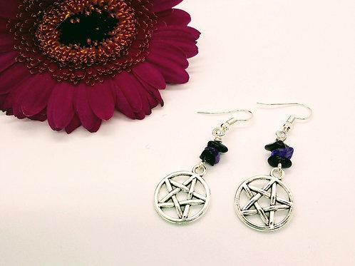 Protection Pentacle Earrings