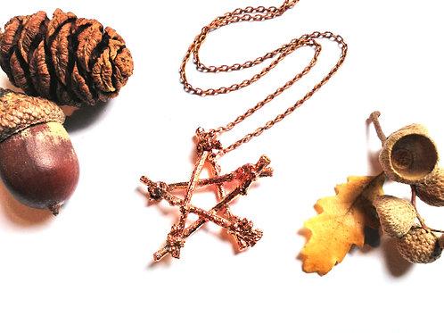 Copper Pentacle Necklace