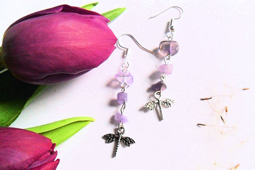 Air Element Dragonfly Earrings