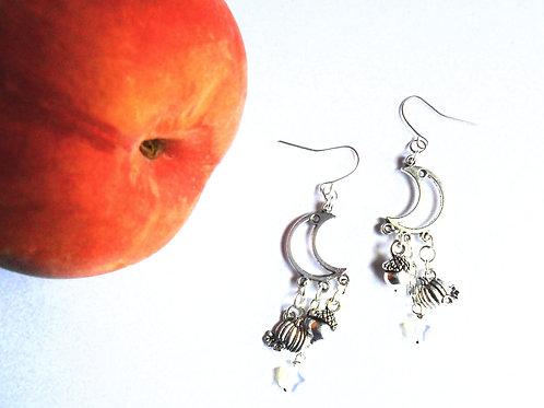 Mabon Moon Earrings