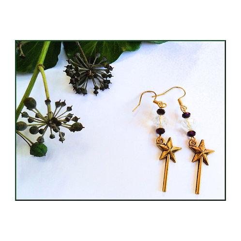 Gold Wand Earrings