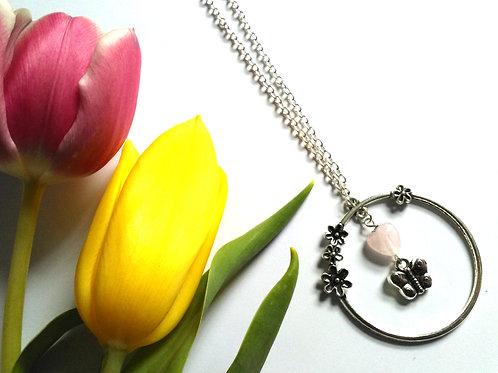 Floral Hoop Necklace