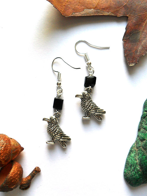 Nevermore Crow Earrings